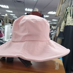 Pink straw hat by inc company just came in